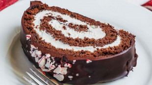 Chocolate Peppermint Swiss Roll Recipe